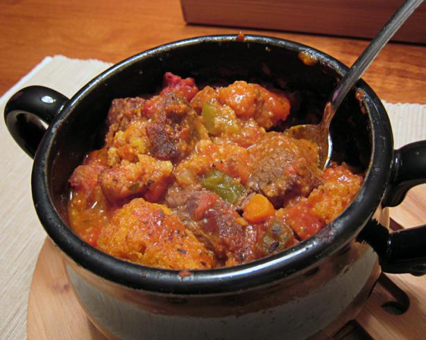Chuck Wagon Stew With Cornmeal Dumplings