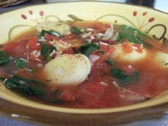 Spicy Tortellini Soup