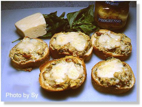 E-Z Artichoke and Cheese Bruschetta