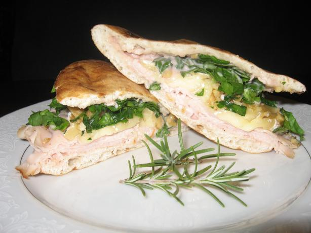 Turkey Pita Sandwiches With Brie, Pecans and Home