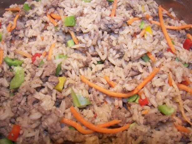 Easy Rice and Hamburger One Dish Dinner
