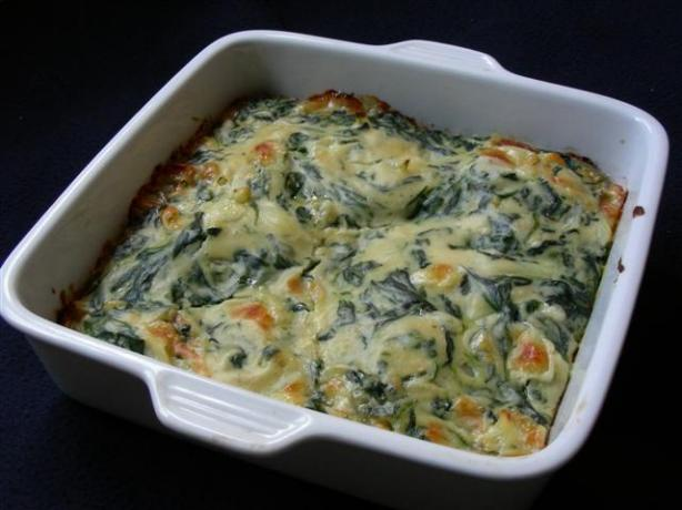Smoky Spinach Gratin