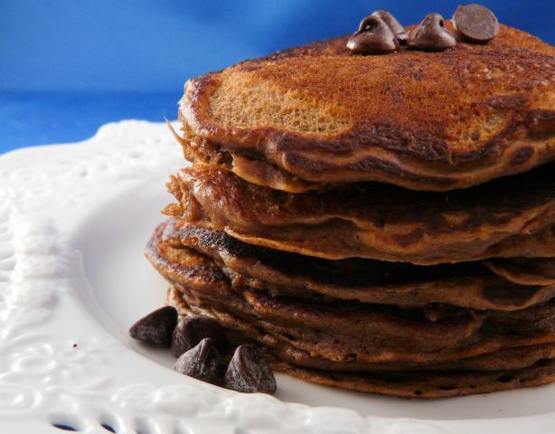 Mochaccino Pecan Pancakes