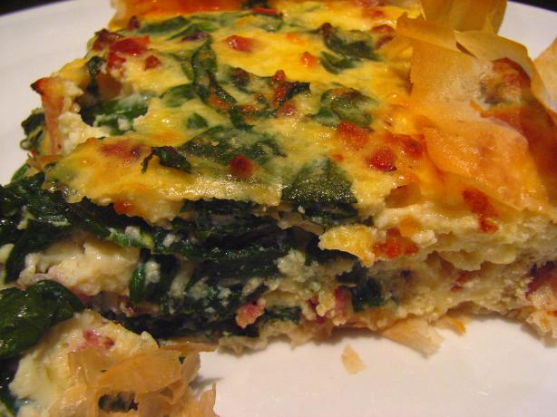 Bacon Spinach Asiago Quiche