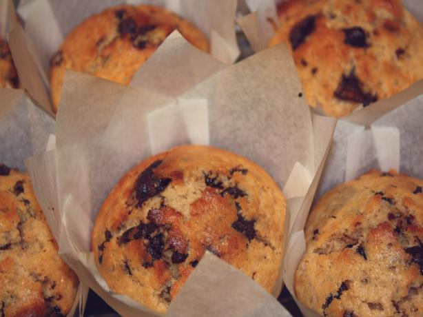 Coffee Choc Chip Muffins