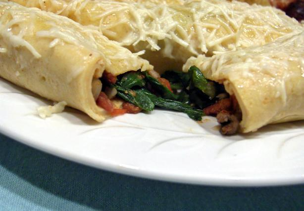 Spinach & Asiago Crepes
