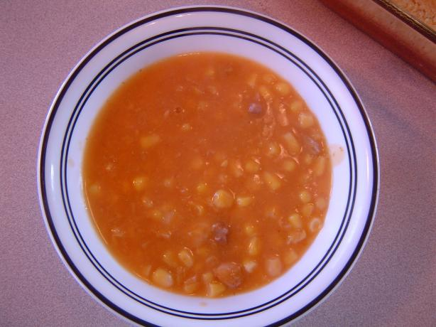 Pumpkin & Corn Soup, Revised