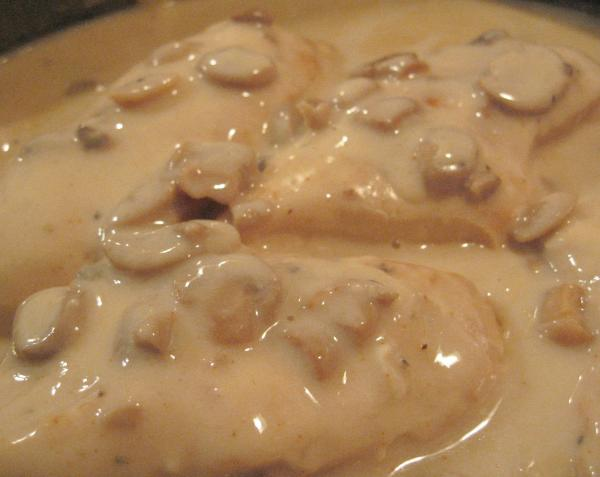 Crock Pot Bone-In Chicken Breast With Mushroom Gravy