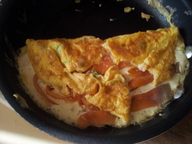 Smoked Salmon Omelet With Herbs