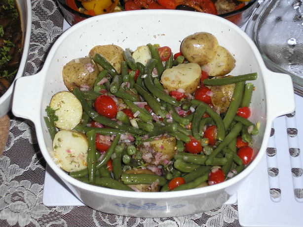 Provencial Style Potatoes and Green Beans