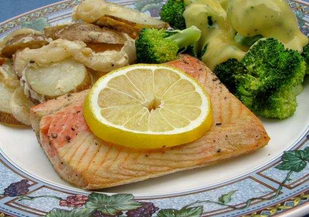 Grilled Salmon or Halibut