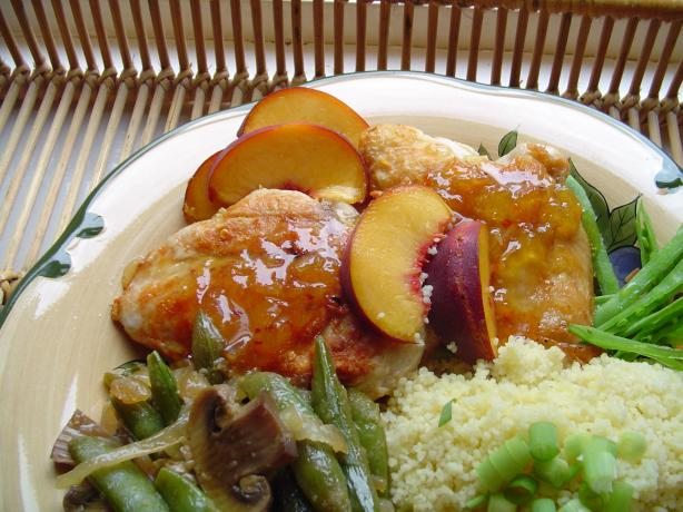 Grilled Chicken in Peach Sauce-just for 2