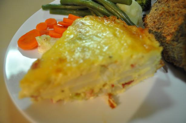 Delectable Potato and Ham Bake