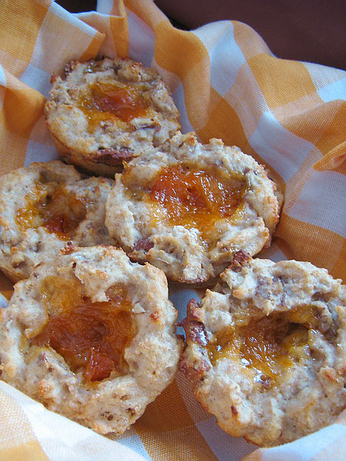 Peach-Filled Wheat Muffins