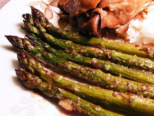 Roasted Garlic Asparagus Supreme
