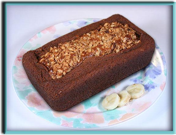 Crunchy Banana Colada Bread