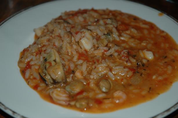 Risotto Coi Frutti Di Mare (Risotto With Seafood)