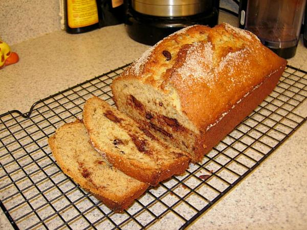 Banana Chocolate Chunk Bread
