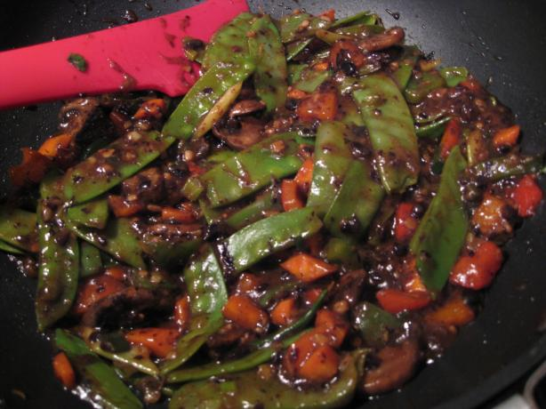 Stir-fry Vegetables in Black Bean Sauce