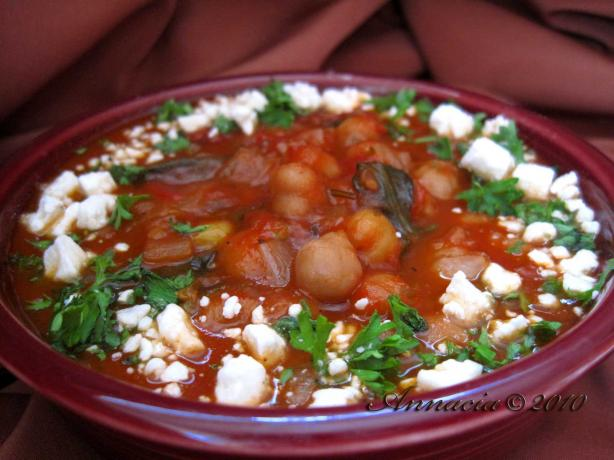 Greek Garbanzo Stew