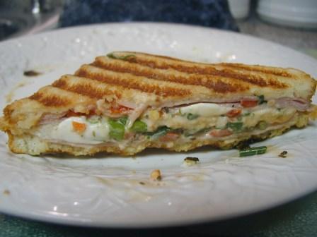 Homemade Italiano Caprese Panini