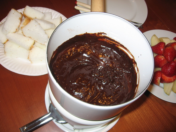 Lighter Chocolate Fondue (Or Ganache)