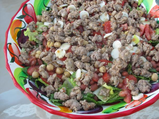 Zesty Mixed Salad With Italian Sausage