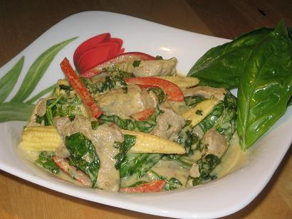 Thai Pork and Baby Corn Stir Fry