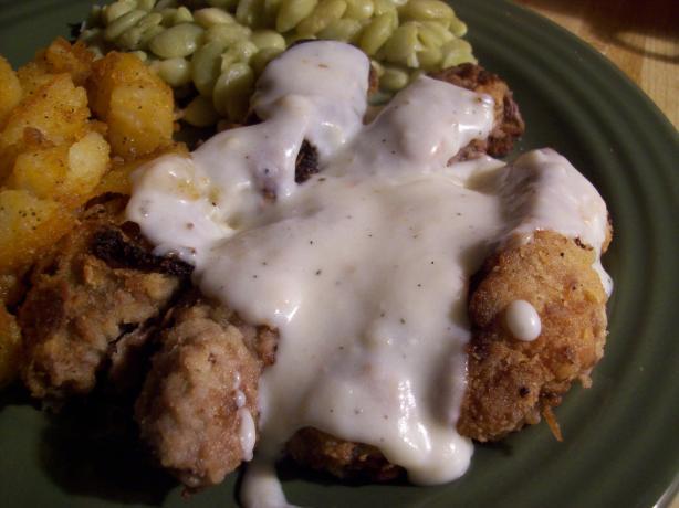 Chicken-Fried Steak Strips With Milk Gravy