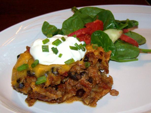 Crock Pot Beef Taco Casserole