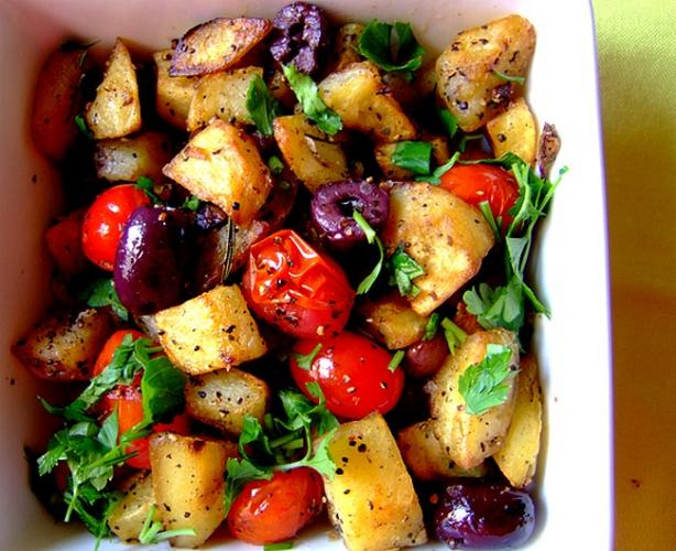 Clarissa Hyman's Sauteed Rosemary Potatoes With Cherry Tomatoes