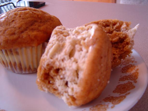 No Sugar Added Pumpkin Cream Cheese Muffins
