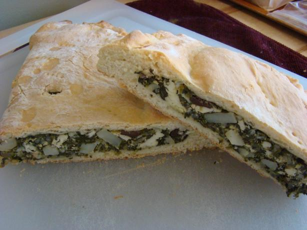 "Spinach and Feta Cheese ""alligator"""