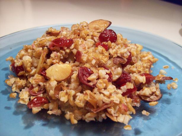 Bulgur Pilaf W/ Almonds and Cranberries