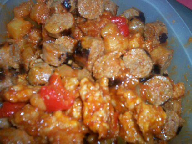 Sweet N Sour Spicy Sausage