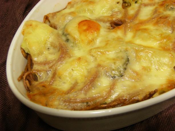 Spaghetti, Broccoli and Cheese Casserole