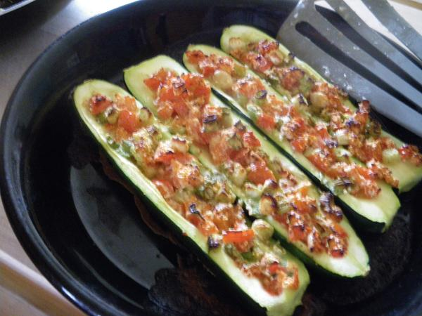 Low Carb Stuffed Zucchini