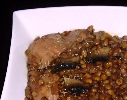 Chicken With Green Lentils