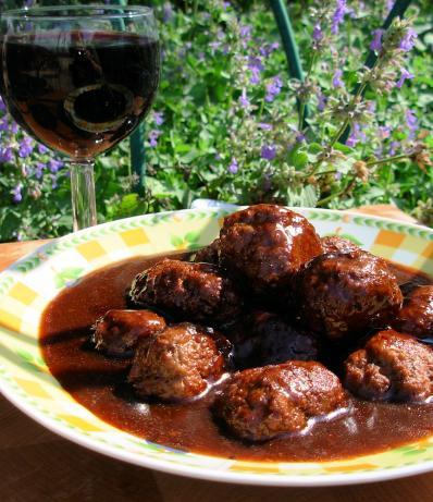 Meatballs in Merlot