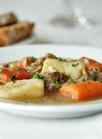 Traditional Irish Stew With Pearl Barley