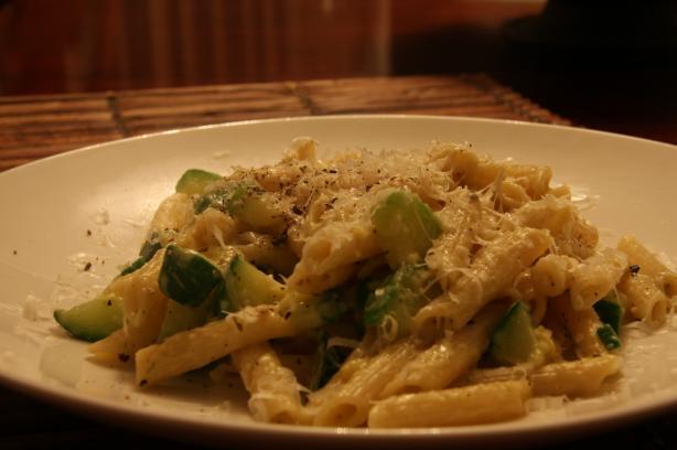 Zucchini Carbonara for Two(Vegetarian)