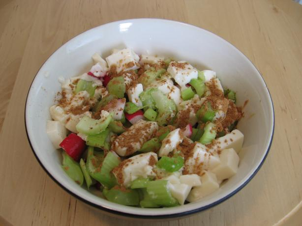Cinnamon Grape Salad With Tofu