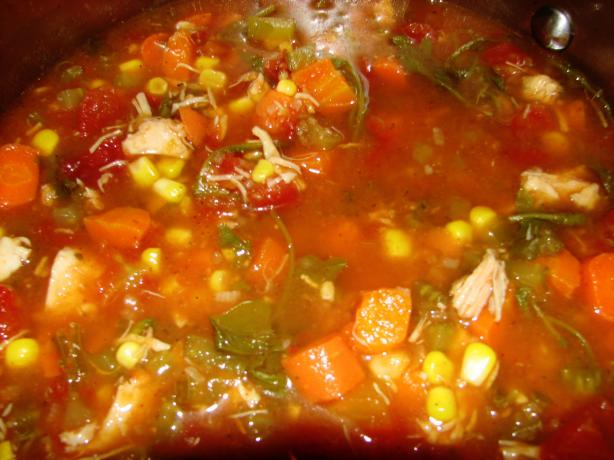 Mouthful of Spice Chicken Vegetable Soup