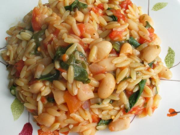 Beans, Tomatoes, and Spinach