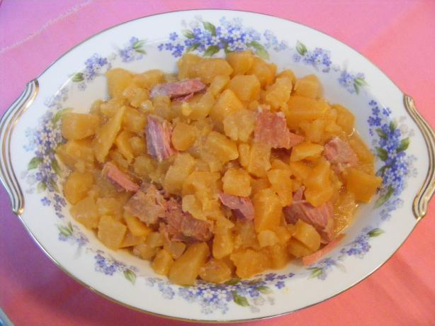Southern Rutabaga With Ham Bits