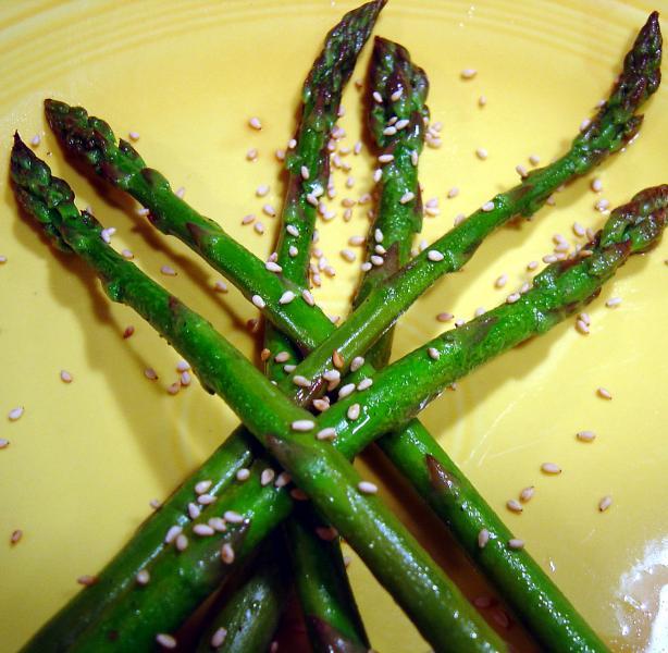 Tender Crisp Balsamic Sesame Asparagus