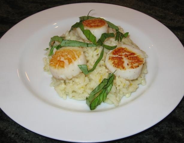 Lemony Seafood Risotto With Tarragon