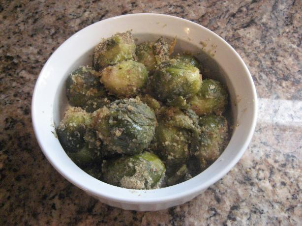 Fresh Brussels Sprouts With Olive Oil & Breadcrumbs
