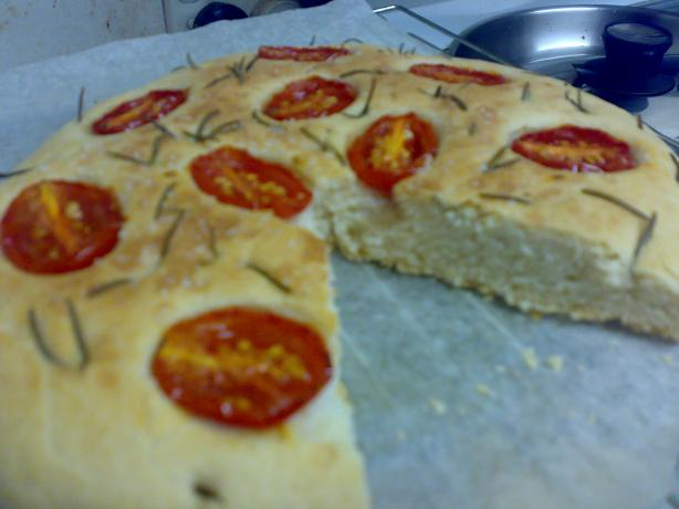Vegetarian Rosemary and Tomato Focaccia