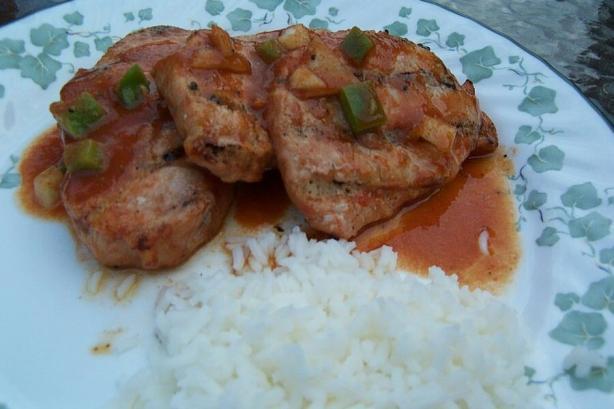 Spicy Marinated Pork Chops